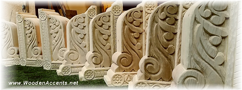 Wooden Accents - Hand Carved Wooden Corbels